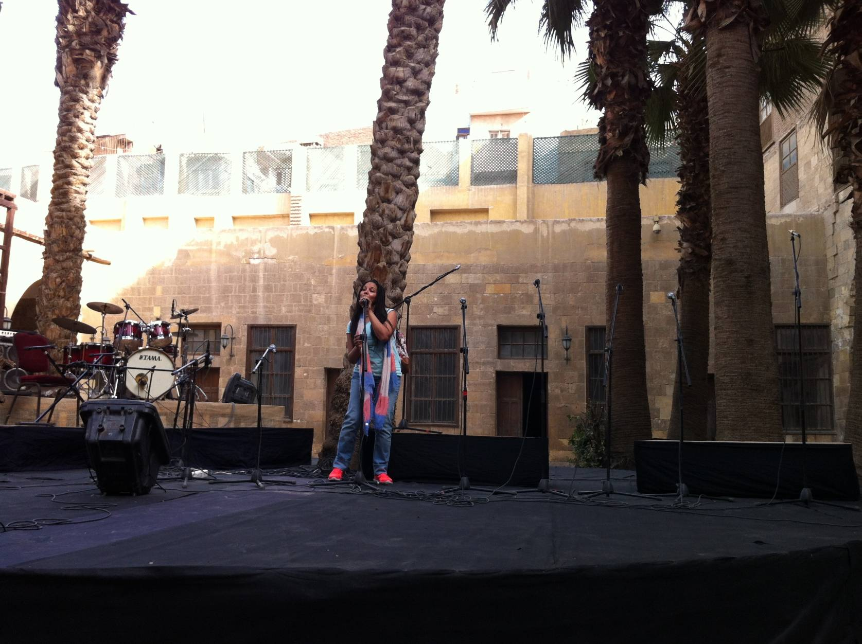 performing:medieval house:Cairo